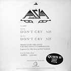 ASIA : DON'T CRY