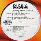 DICE' C.  ft. PHAT BEAT : COMING FROM D-TOWN
