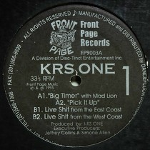 KRS ONE : BIG TIMER  / LIVE SHIT FROM THE WEST COAST