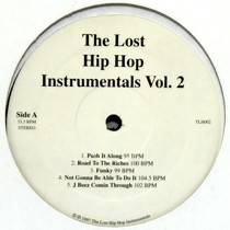 V.A. : THE LOST HIP HOP INSTRUMENTALS  VOL. 2
