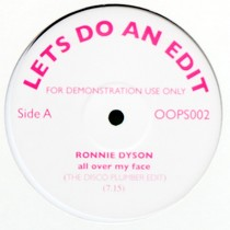 RONNIE DYSON  / KING ERRISSON : ALL OVER MY FACE  / DISCO CONGO