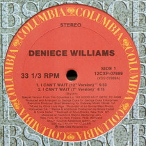 DENIECE WILLIAMS : I CAN'T WAIT