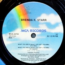 BRENDA K. STARR : WHAT YOU SEE IS WHAT YOU GET