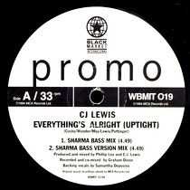 CJ LEWIS : EVERYTHING'S ALRIGHT (UPTIGHT)  / HUMAN NATURE