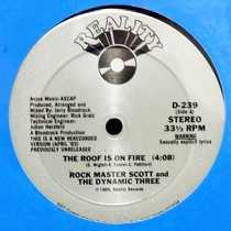 ROCK MASTER SCOTT  AND THE DYNAMIC THREE : THE ROOF IS ON FIRE