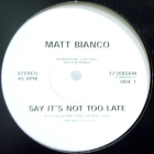 MATT BIANCO : SAY IT'S NOT TOO LATE  / SUMMER SONG