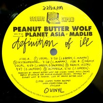 PEANUT BUTTER WOLF  WITH PLANET ASIA + MADLIB : DEFINITION OF ILL